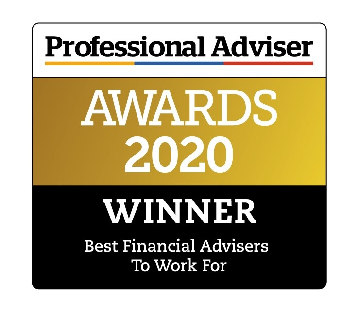 Winners of the Professional Adviser Best Financial Adviser to Work For Logo 2020 category